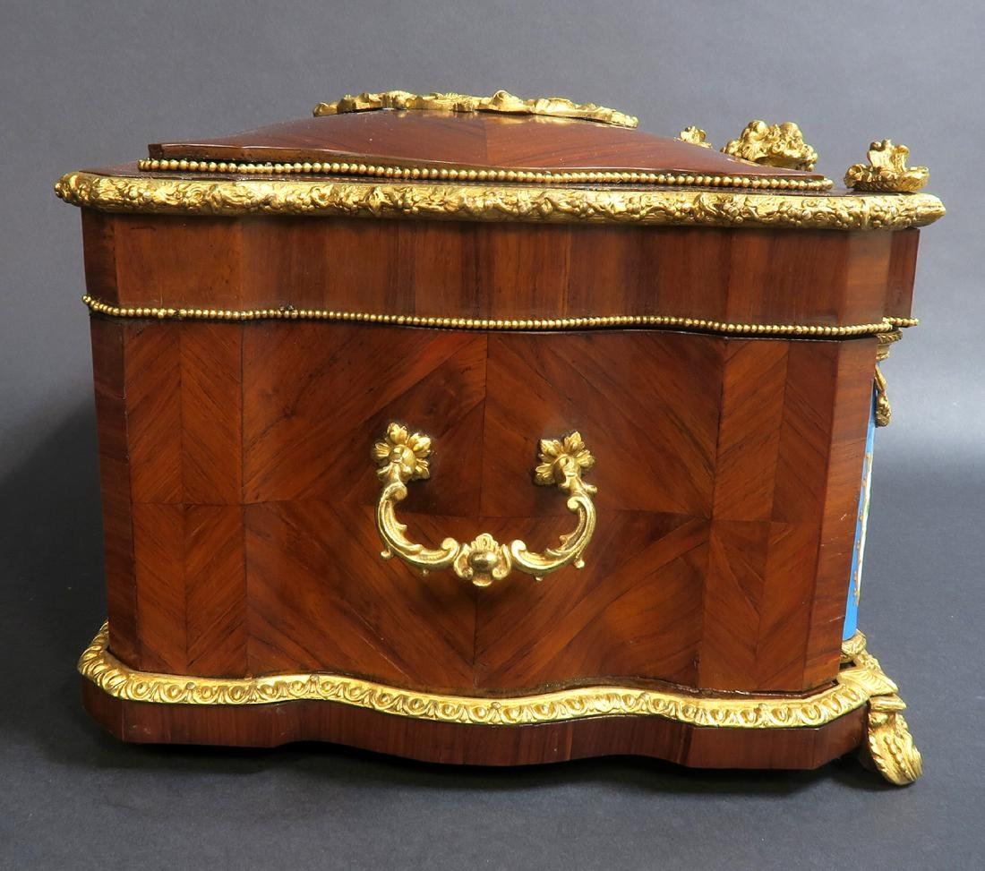 Monumental French Sevres Jewelry Box. 19th C. - 9
