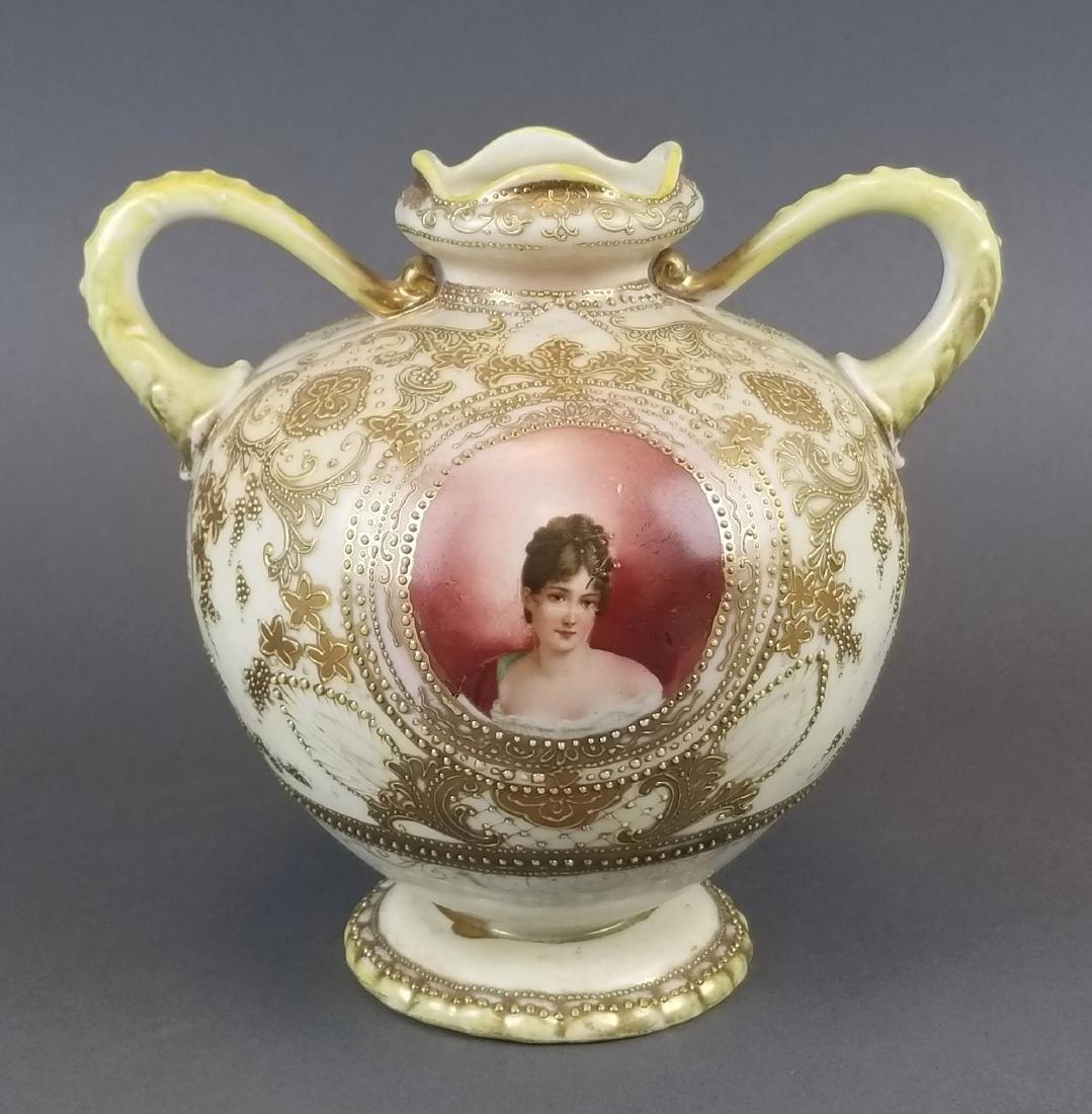 Royal Dunn Handpainted Porcelain Vase
