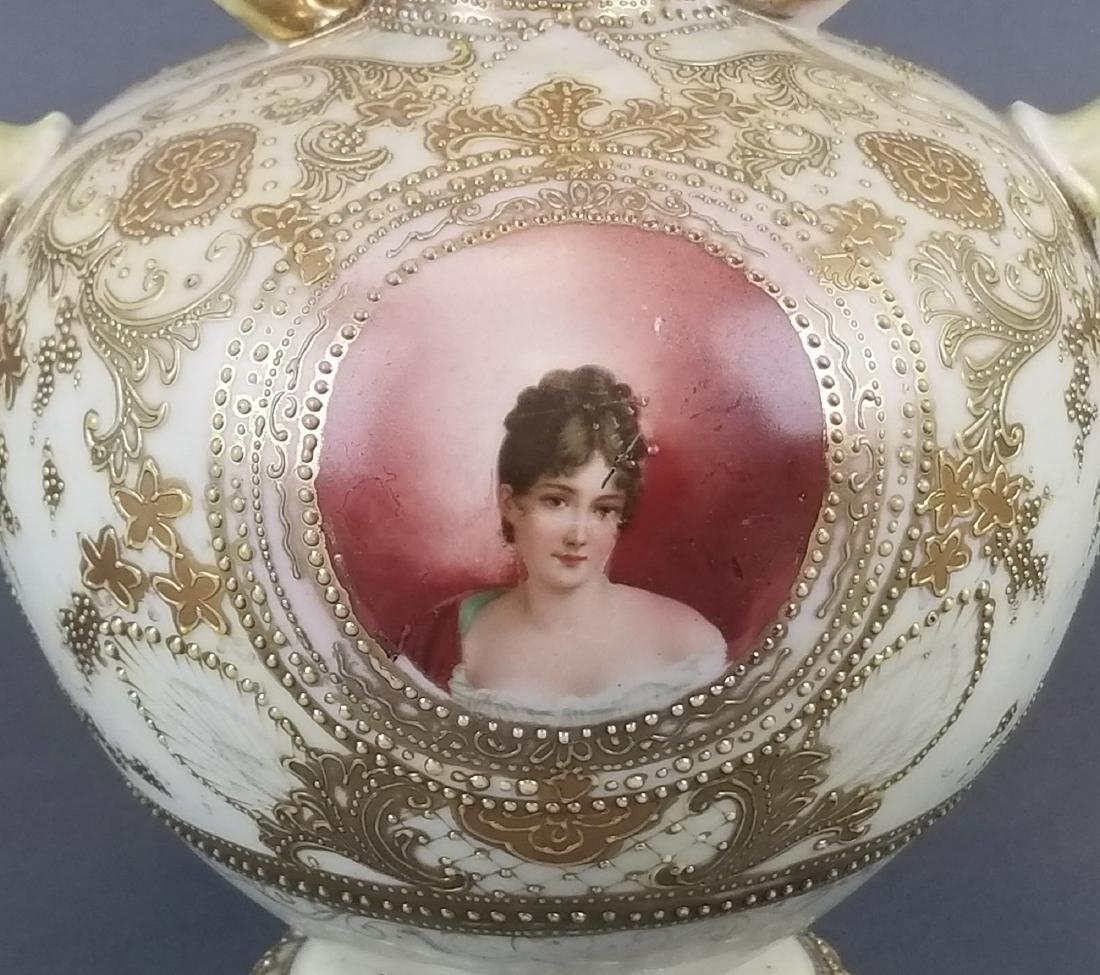 Royal Dunn Handpainted Porcelain Vase - 2