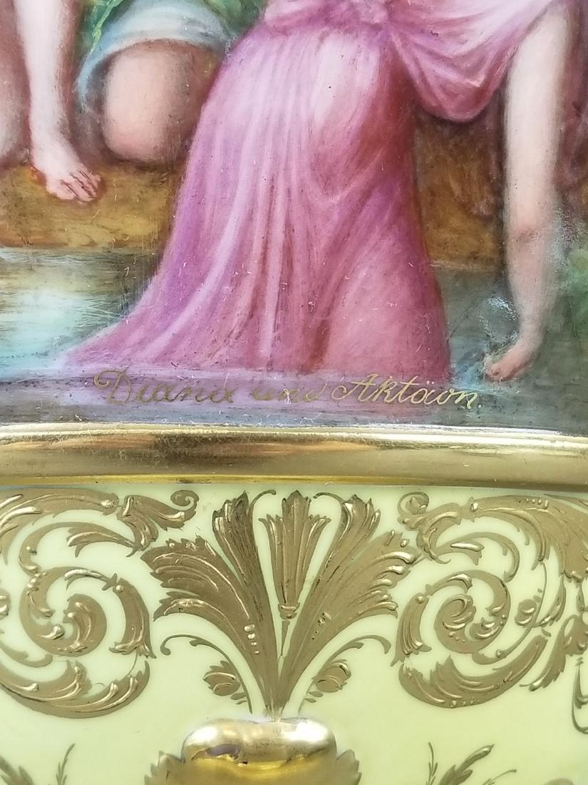 Large 19th C. Royal Vienna Hand Painted Vase - 4