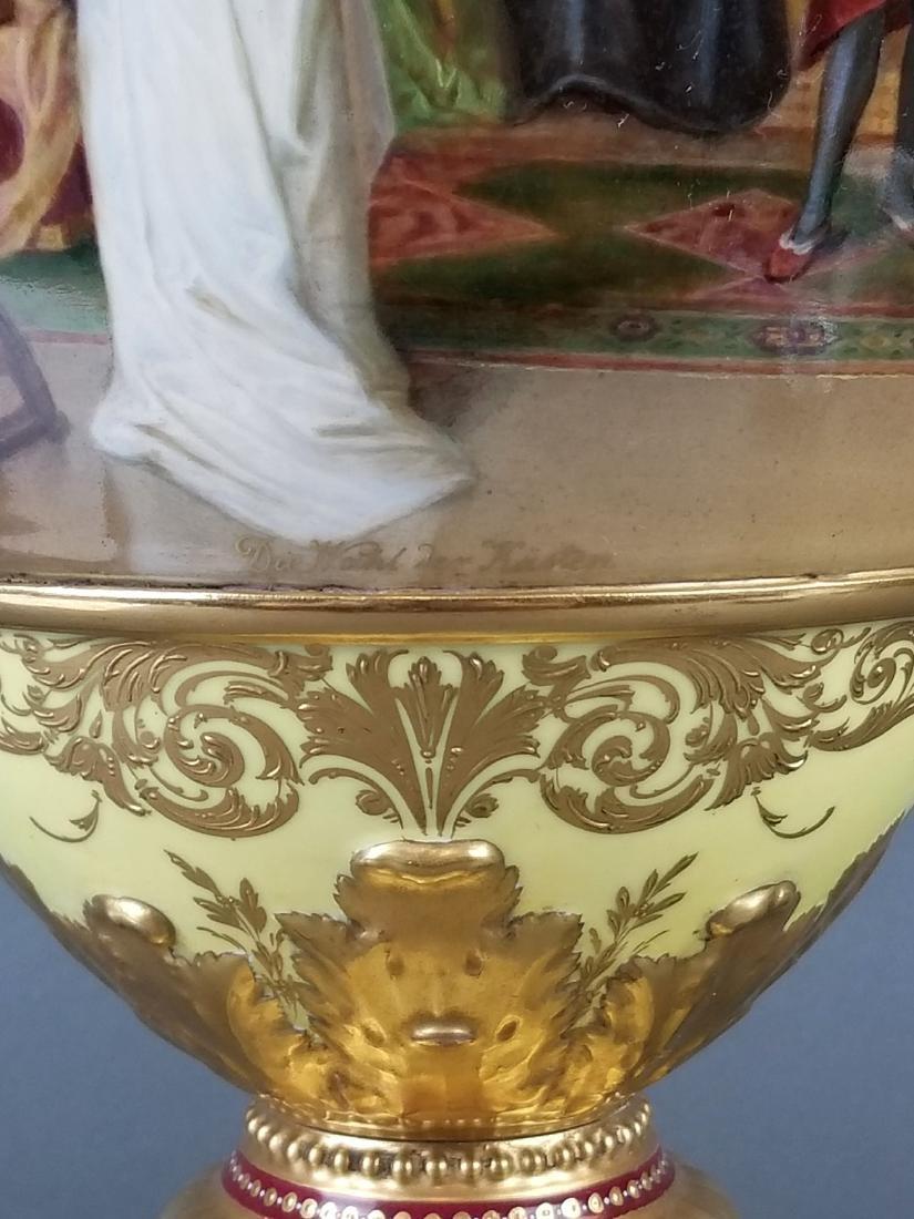 Large 19th C. Royal Vienna Hand Painted Vase - 7