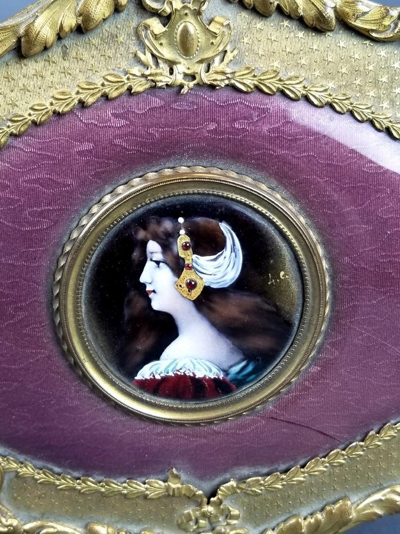 19th C. French Bronze & Enamel Jewelry Box - 3