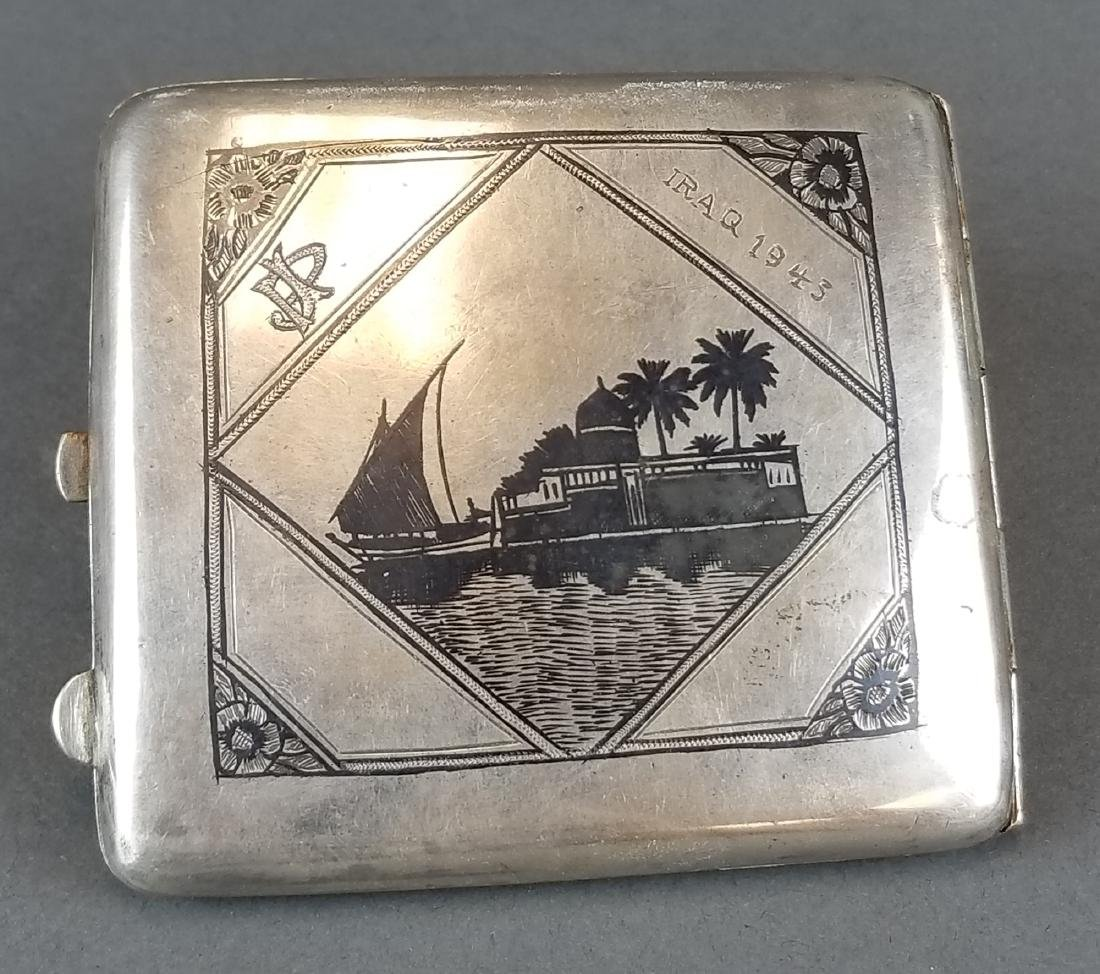 Persian Ahvaz Silver Hand Engraved Cigarette Case - 2