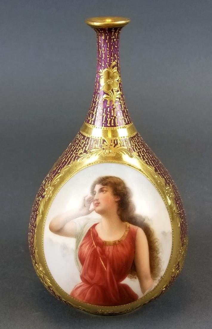 19th C. Royal Vienna Hand painted Vase