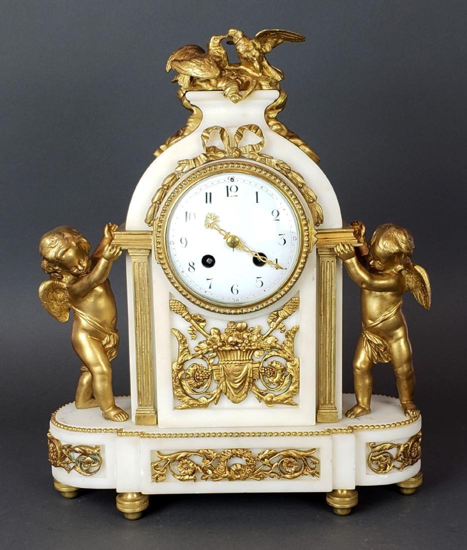 19th C. French Bronze & Marble Clockset - 2
