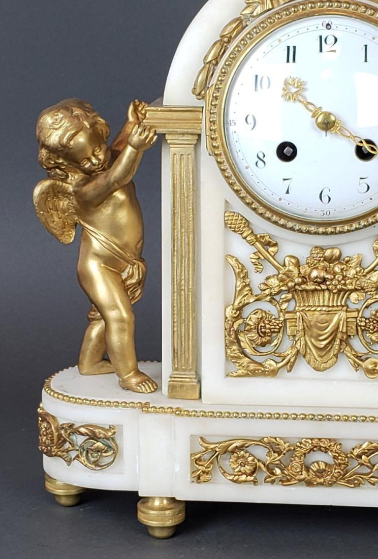 19th C. French Bronze & Marble Clockset - 3