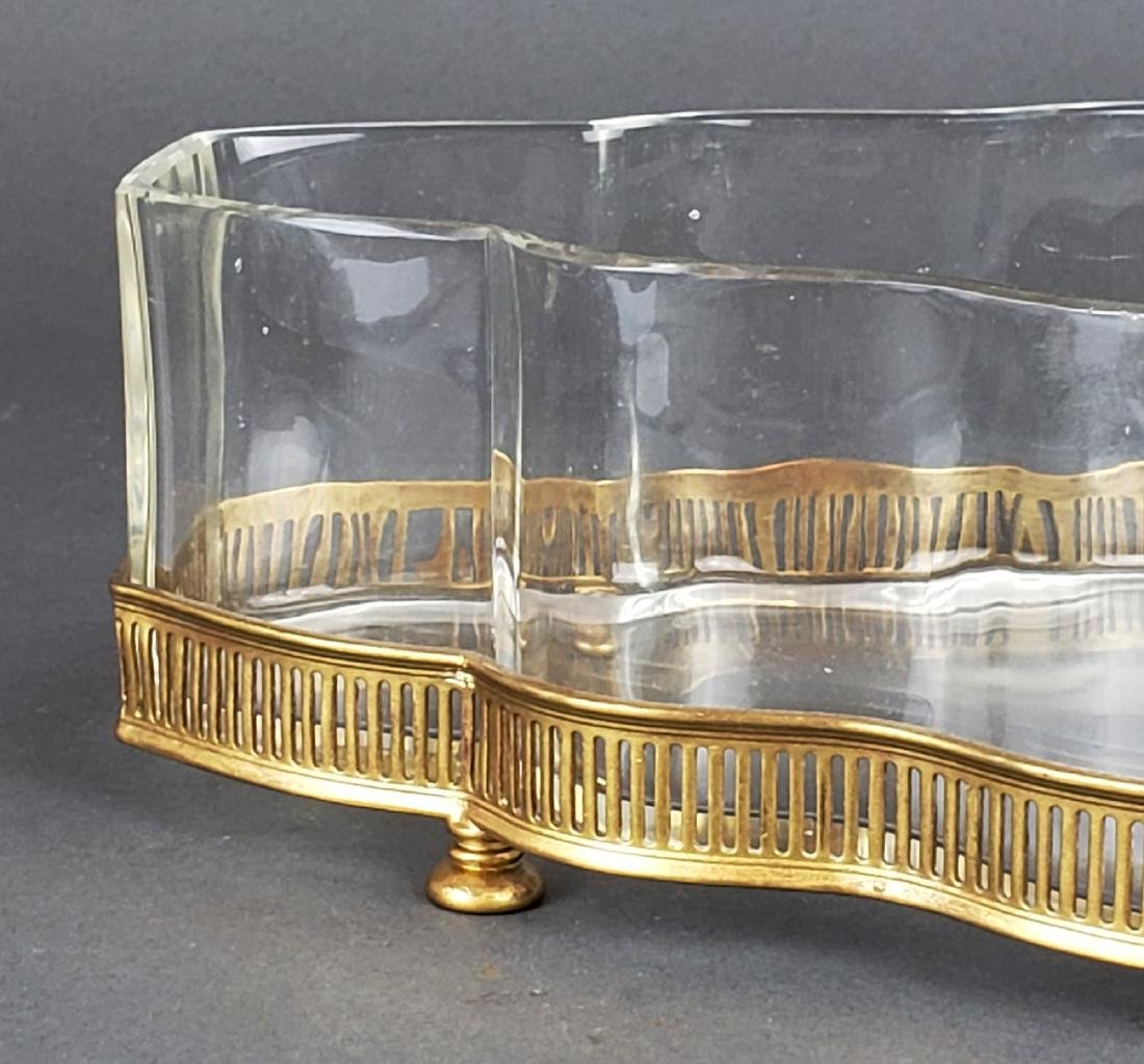 French Bronze and Baccarat Crystal Centerpiece - 2
