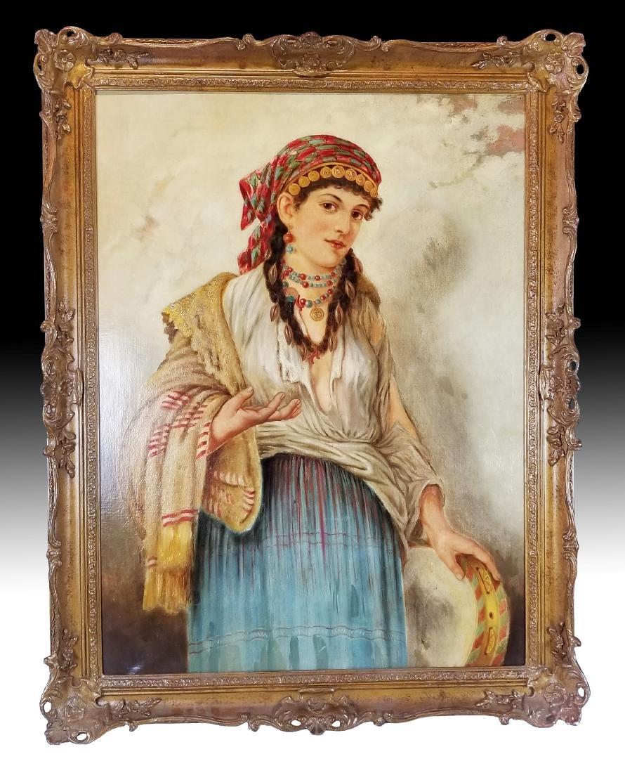19th C. Italian Painting of Woman