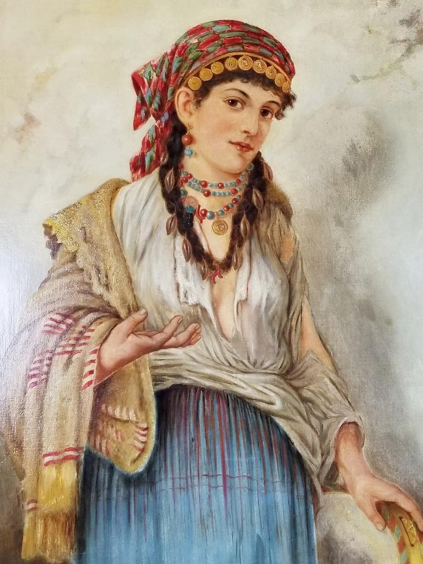 19th C. Italian Painting of Woman - 2