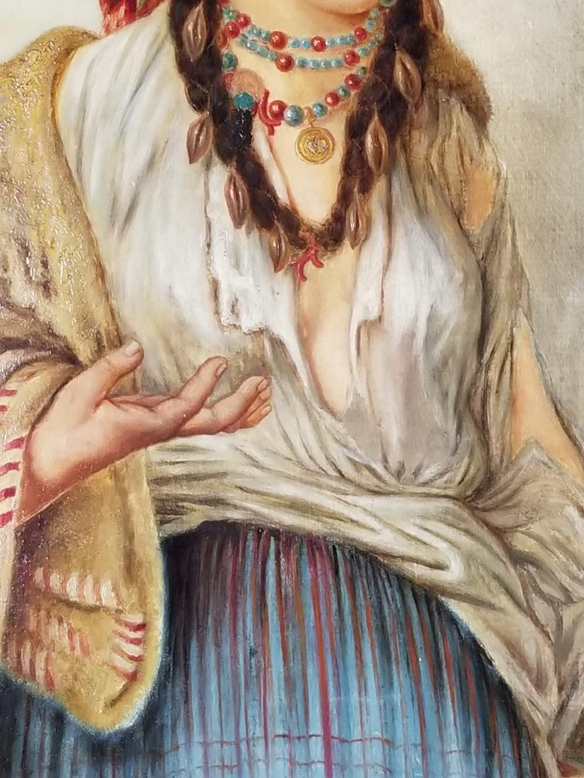 19th C. Italian Painting of Woman - 3