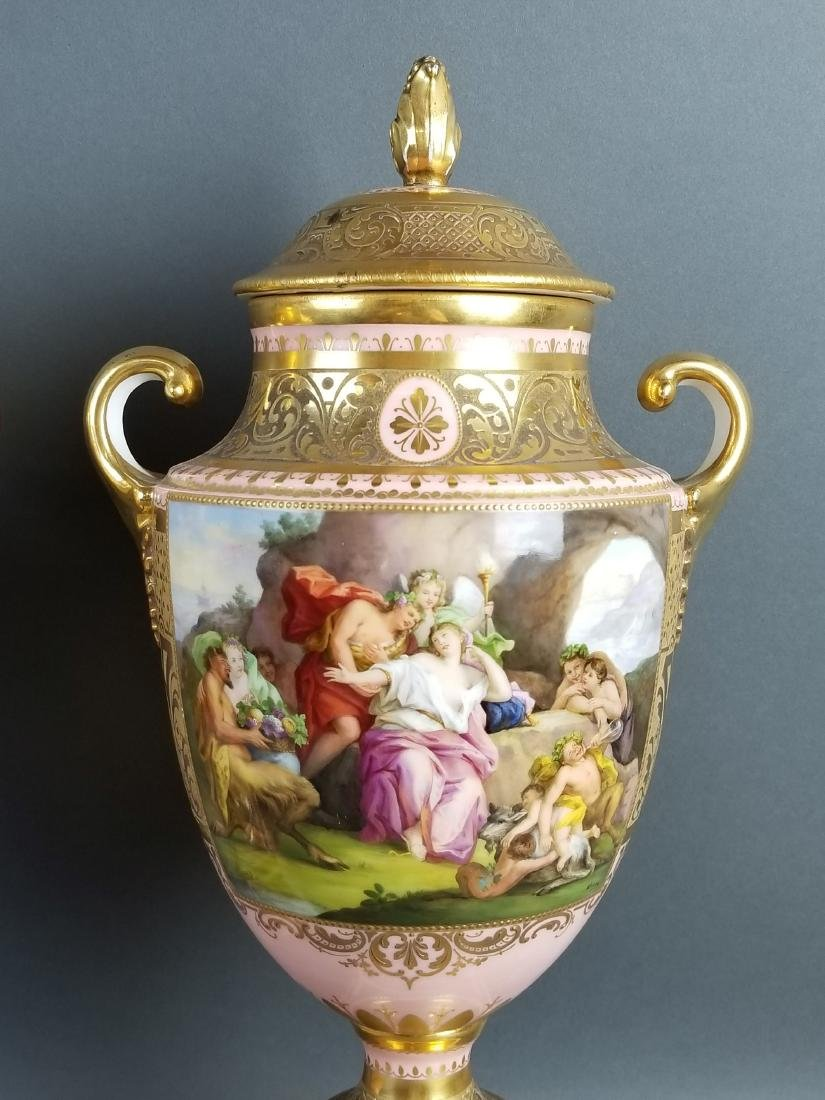 A Pair of Late 19th C. Royal Vienna Pink Ground - 3