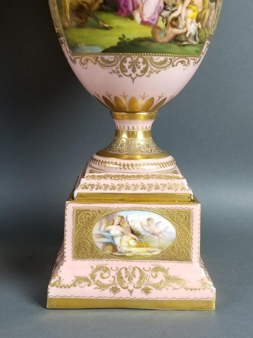 A Pair of Late 19th C. Royal Vienna Pink Ground - 4