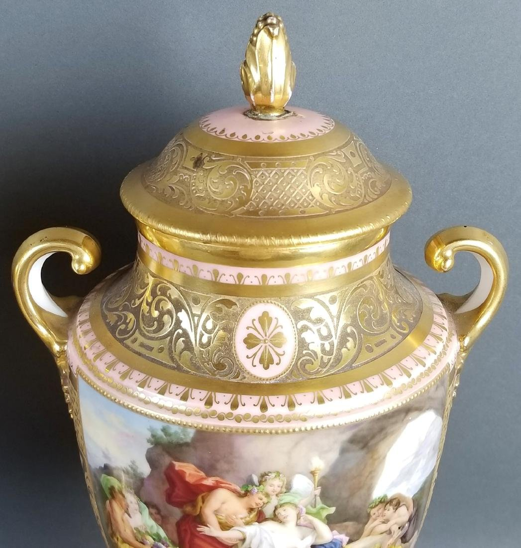 A Pair of Late 19th C. Royal Vienna Pink Ground - 5