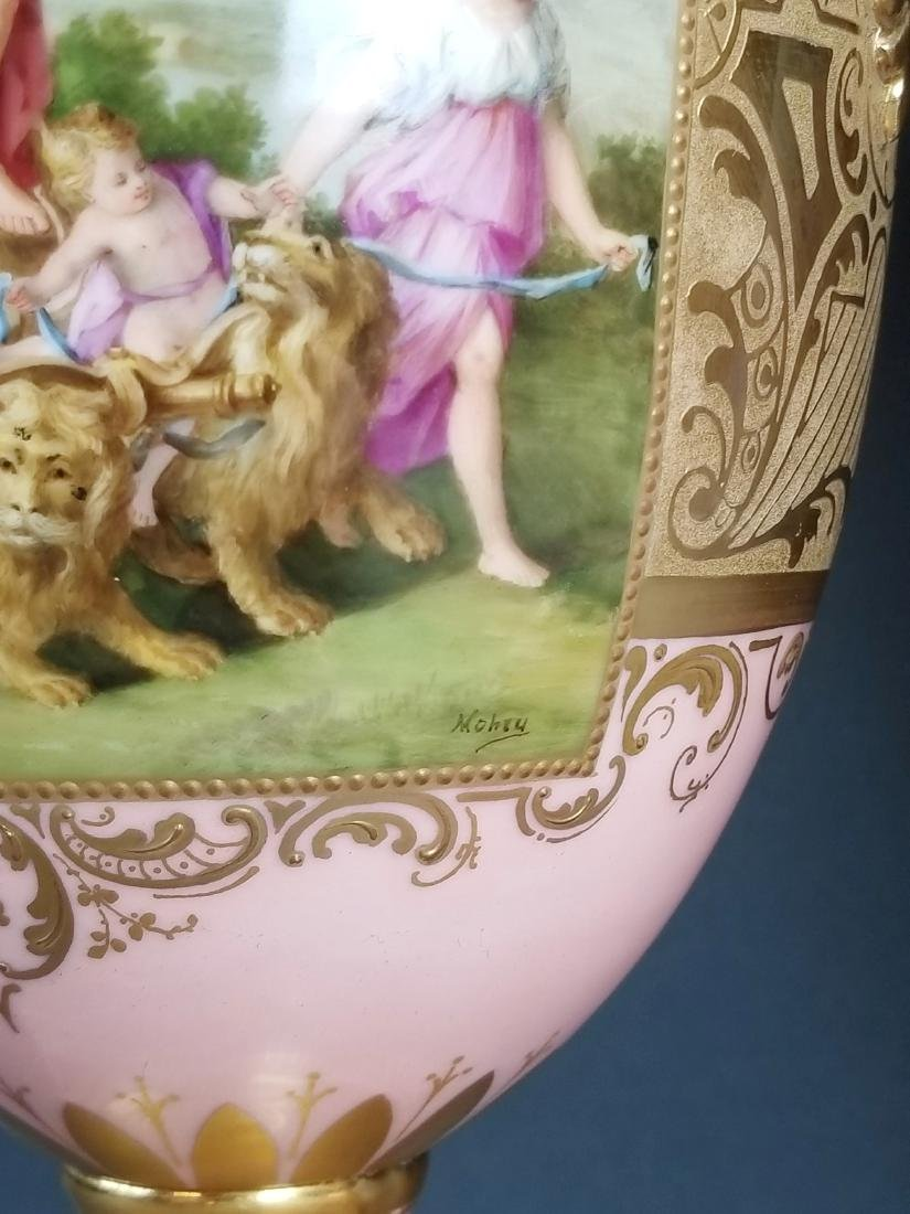 A Pair of Late 19th C. Royal Vienna Pink Ground - 6