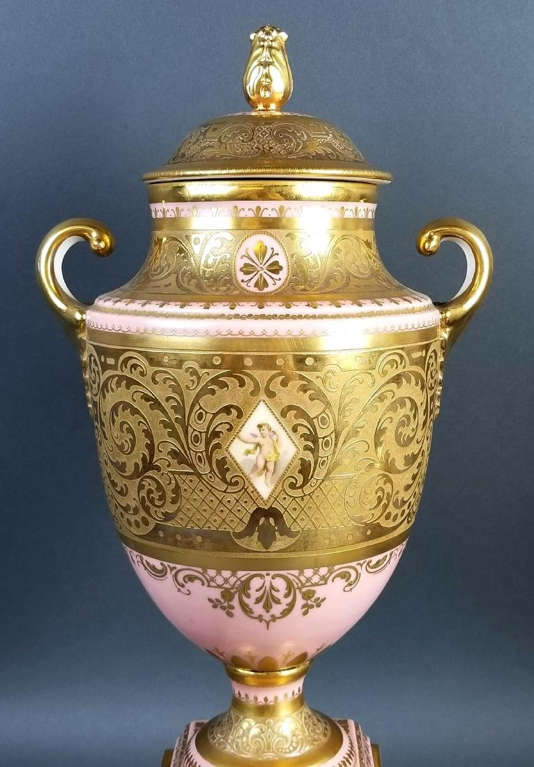 A Pair of Late 19th C. Royal Vienna Pink Ground - 9