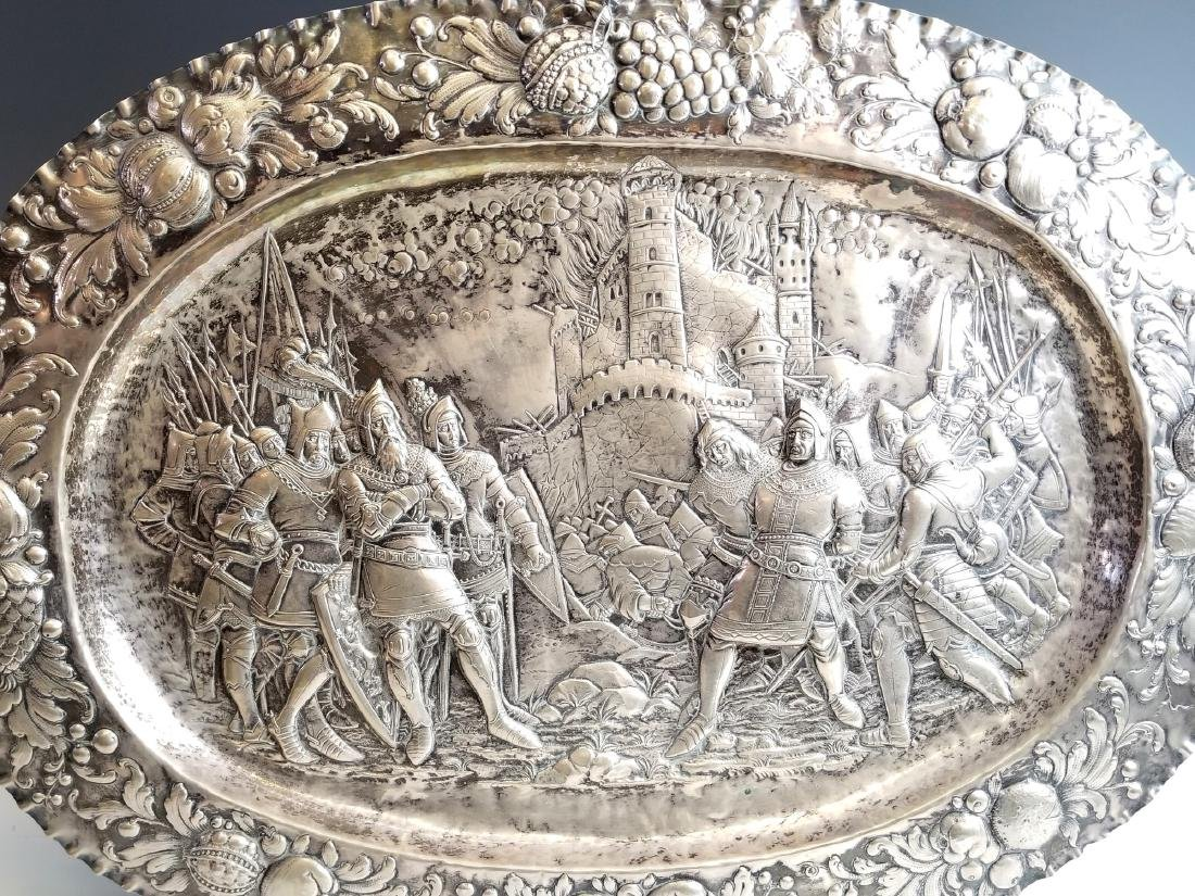 Late 18th C. European Sterling Silver Figural Tray - 2