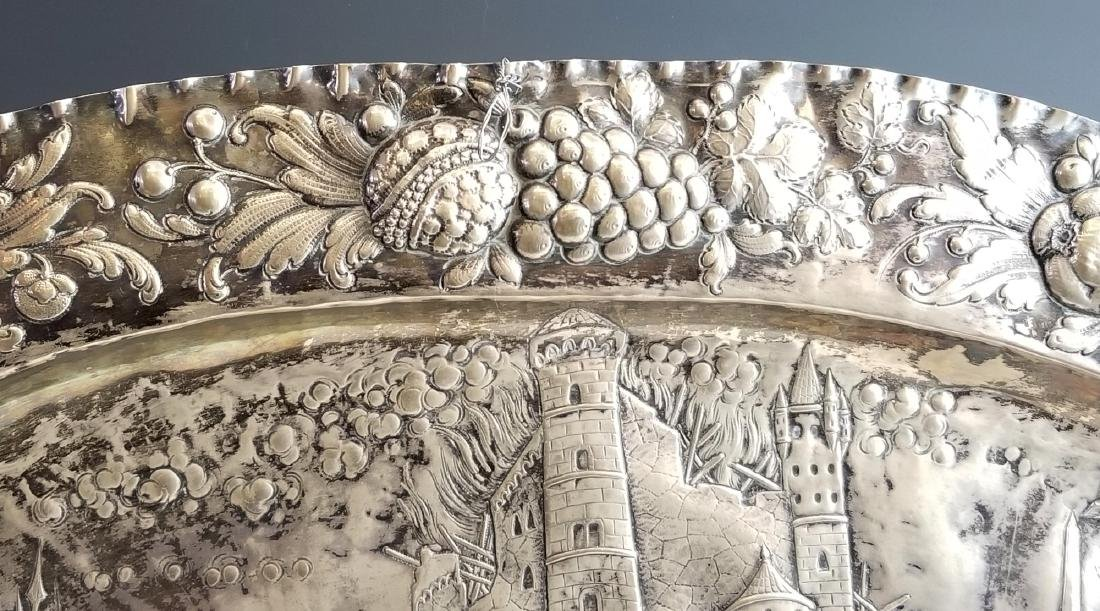 Late 18th C. European Sterling Silver Figural Tray - 3