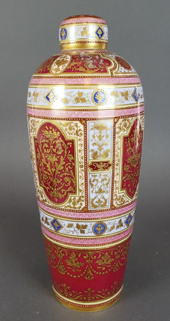 Magnificent Royal Vienna Handpainted Vase & Charger - 4