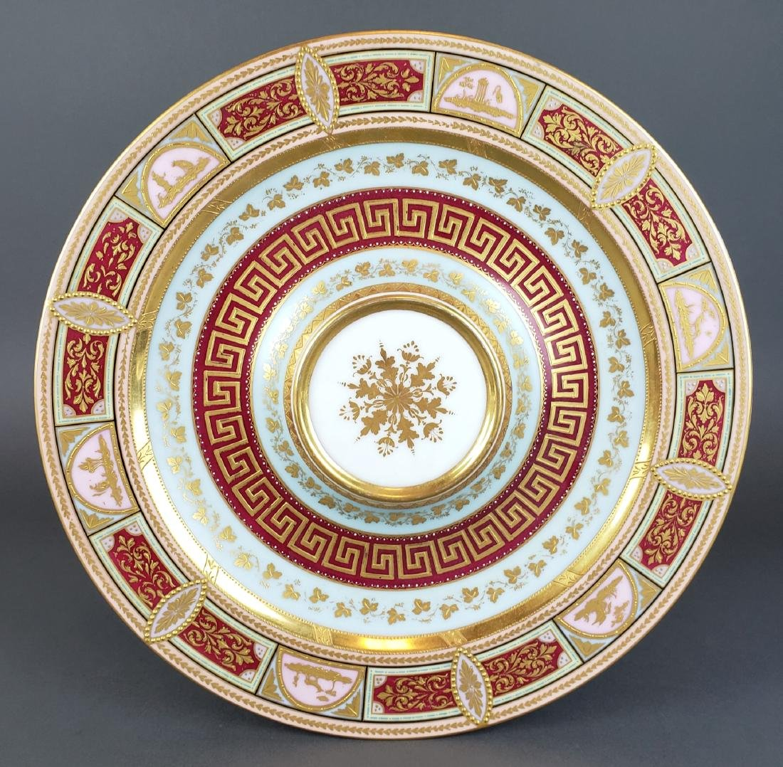 Magnificent Royal Vienna Handpainted Vase & Charger - 7
