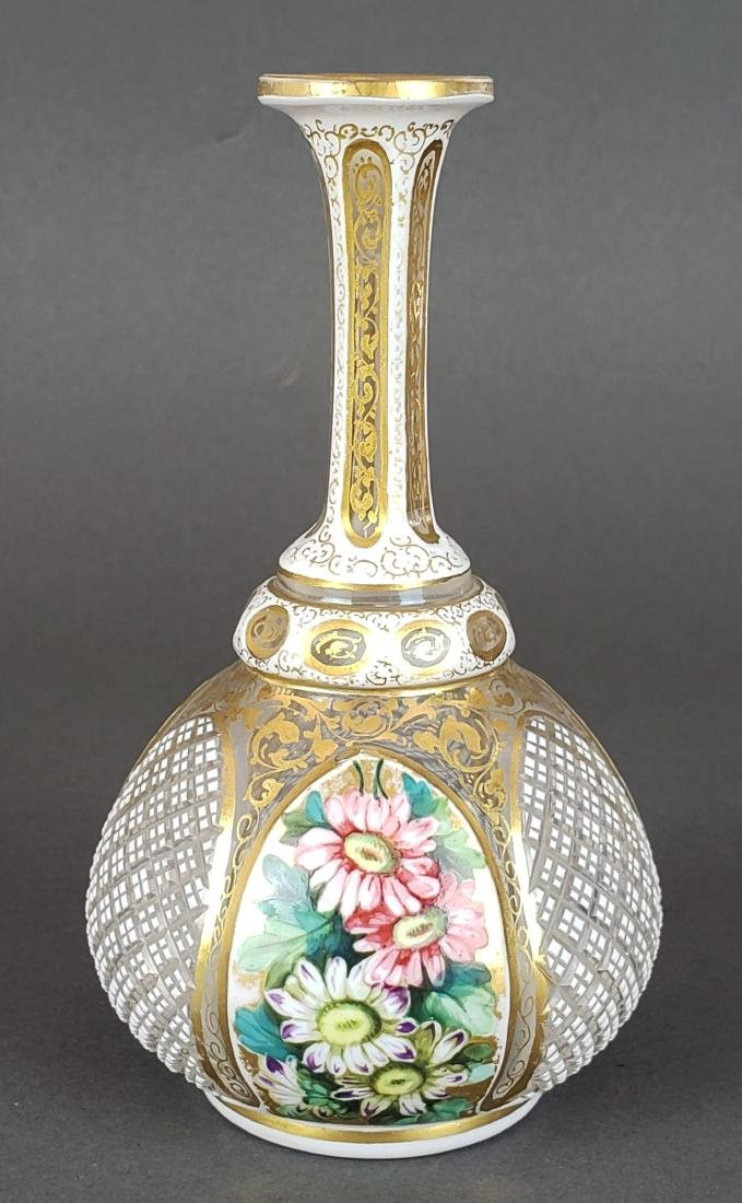 Bohemian Diamond Cut Vase