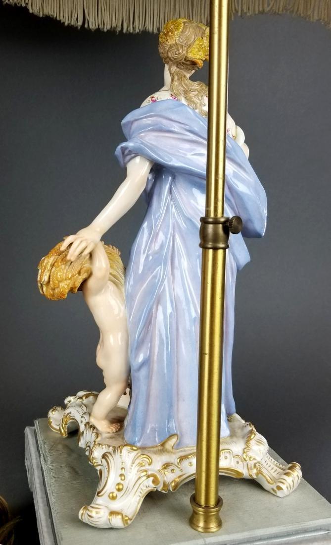 Pair of 19th C. Meissen Figural Lamps - 9