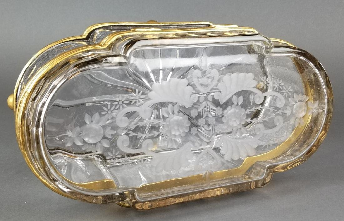 Huge French Bronze & Baccarat Crystal Jewelry Box - 3