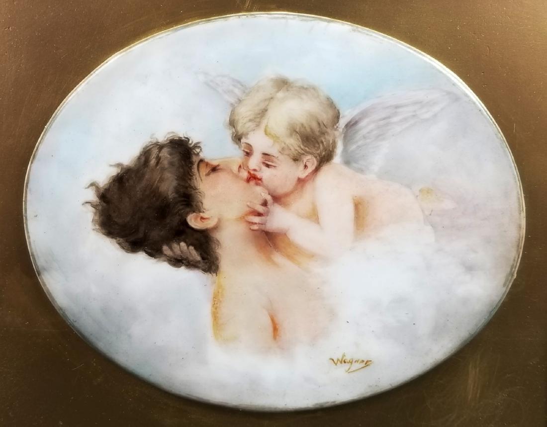 """19th C. KPM Porcelain """"Kiss"""" Plaque - 2"""