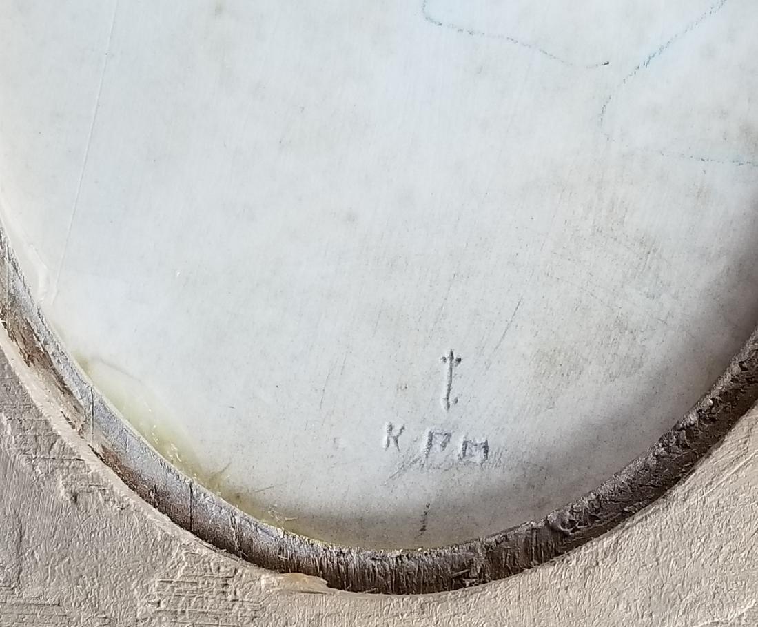 """19th C. KPM Porcelain """"Kiss"""" Plaque - 5"""