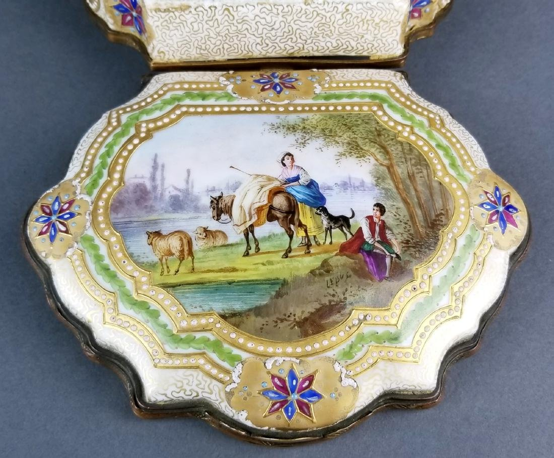 19th C. Sevres Handpainted and Jewelled Jewelry Box - 2