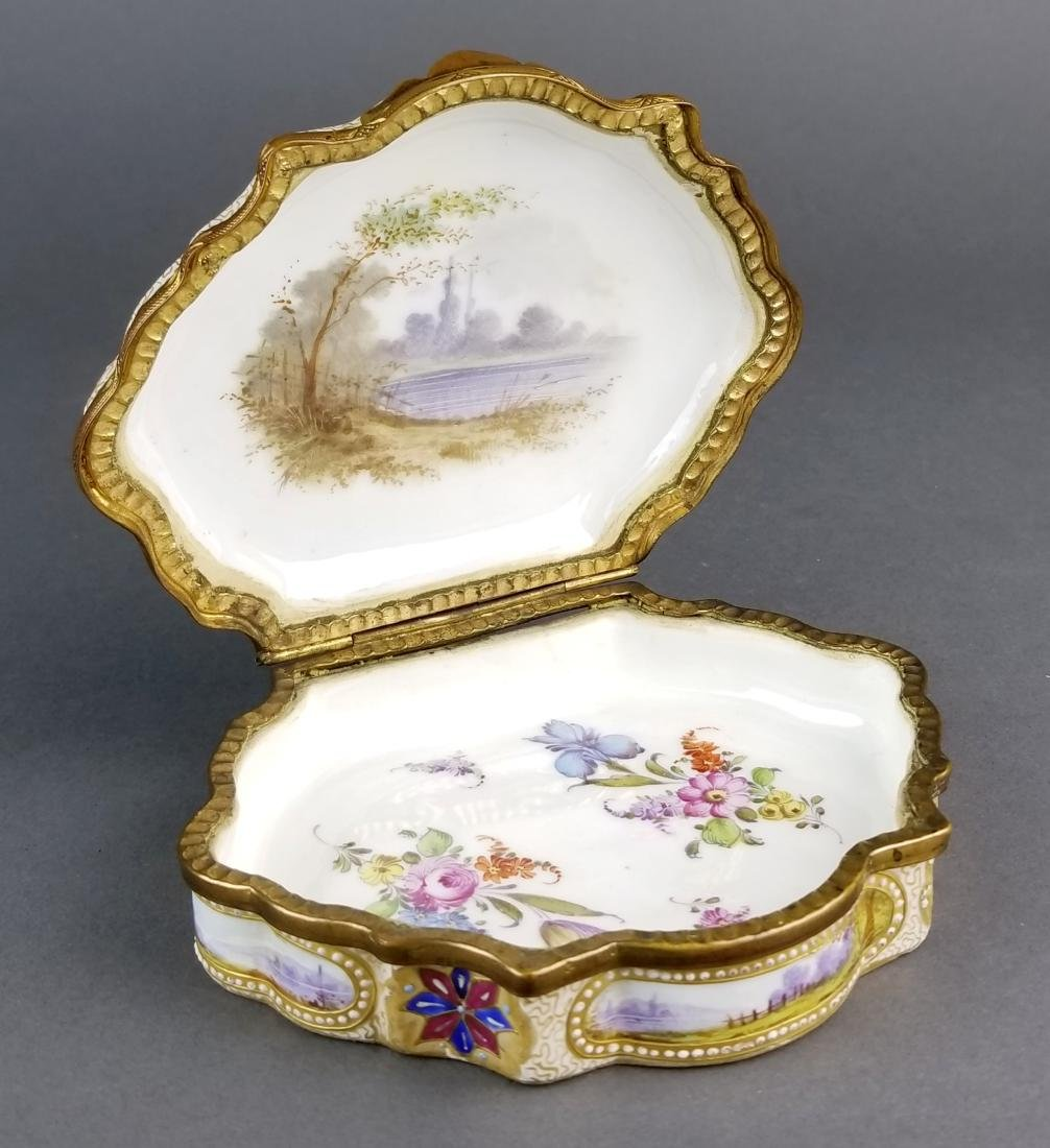 19th C. Sevres Handpainted and Jewelled Jewelry Box - 5