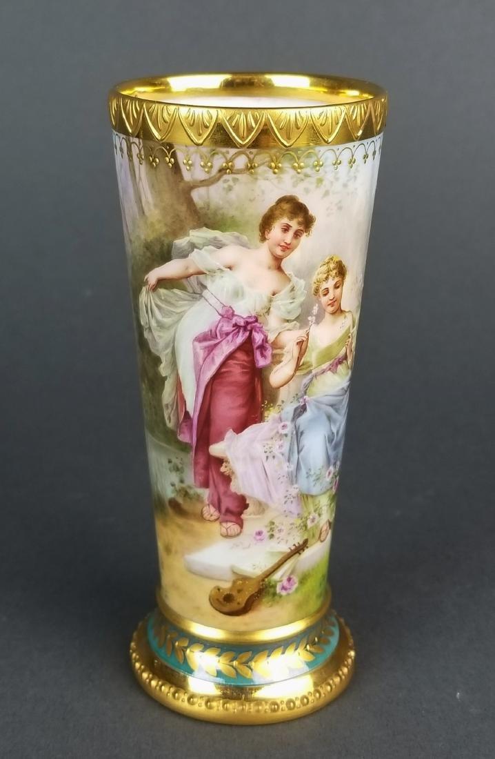 19th C. Royal Vienna Handpainted Vase