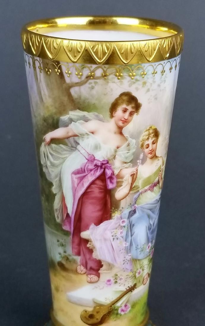 19th C. Royal Vienna Handpainted Vase - 2
