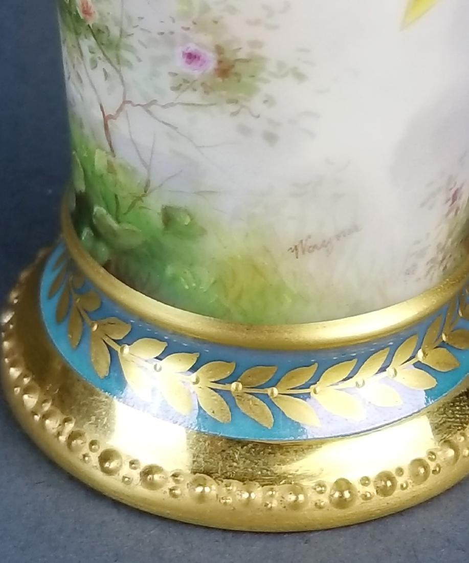 19th C. Royal Vienna Handpainted Vase - 5