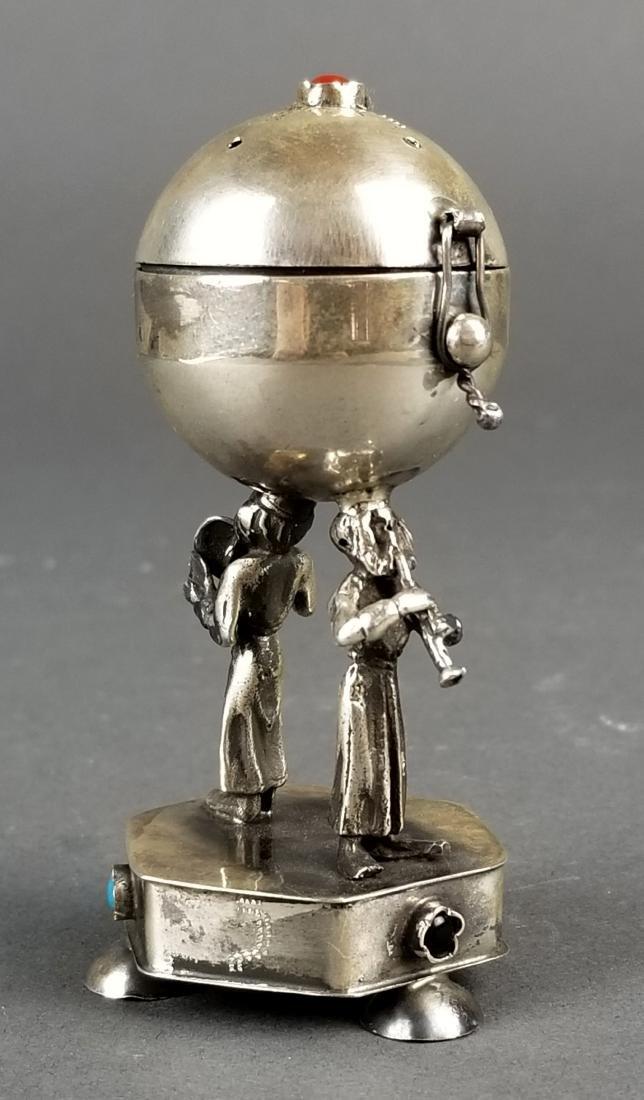 Russian Silver Jewlled Salt Cellar