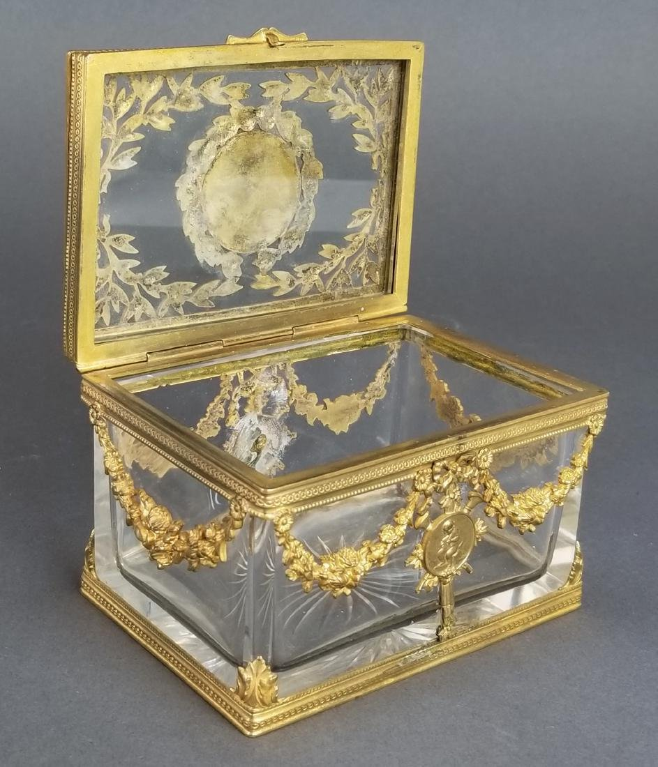 French Baccarat Crystal & Bronze Jewelry Box - 3