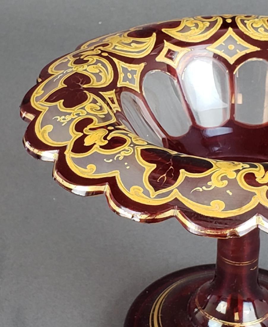 Bohemian Glass Candy Dish - 2
