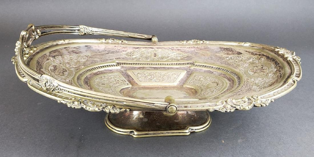 Silverplated Tray with Handle