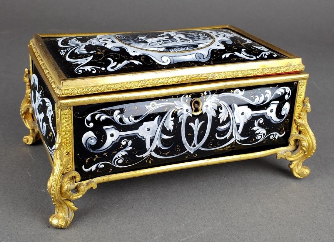 French Enamel Jewelry Box