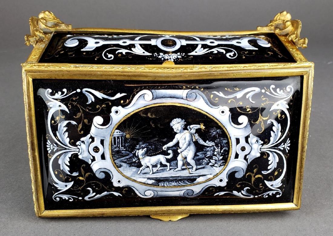 French Enamel Jewelry Box - 2