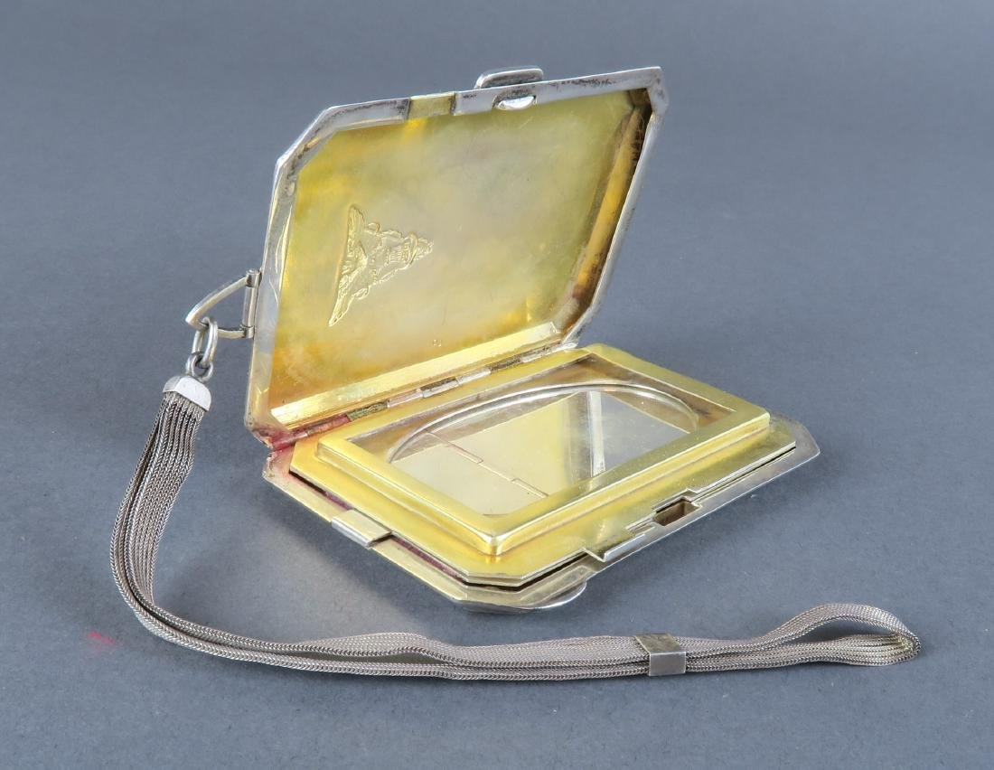 Magnificent 19th C. German Sterling Silver Powder Box