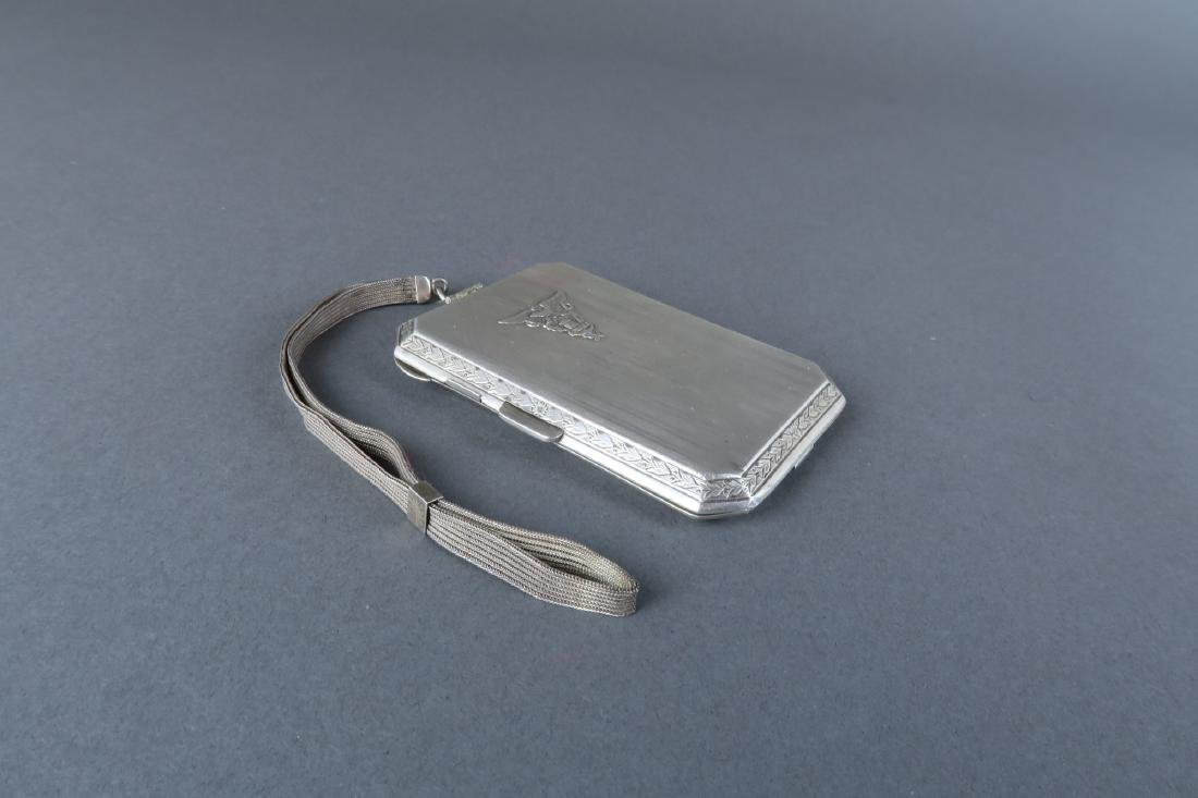 Magnificent 19th C. German Sterling Silver Powder Box - 5
