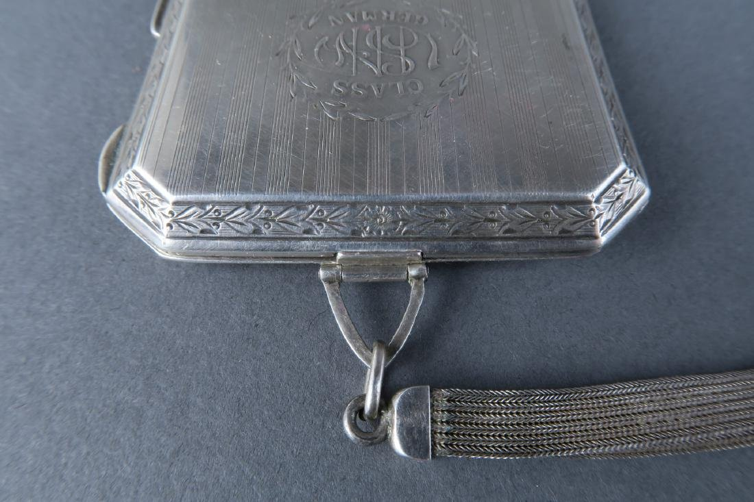 Magnificent 19th C. German Sterling Silver Powder Box - 6