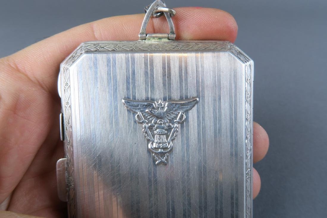 Magnificent 19th C. German Sterling Silver Powder Box - 8