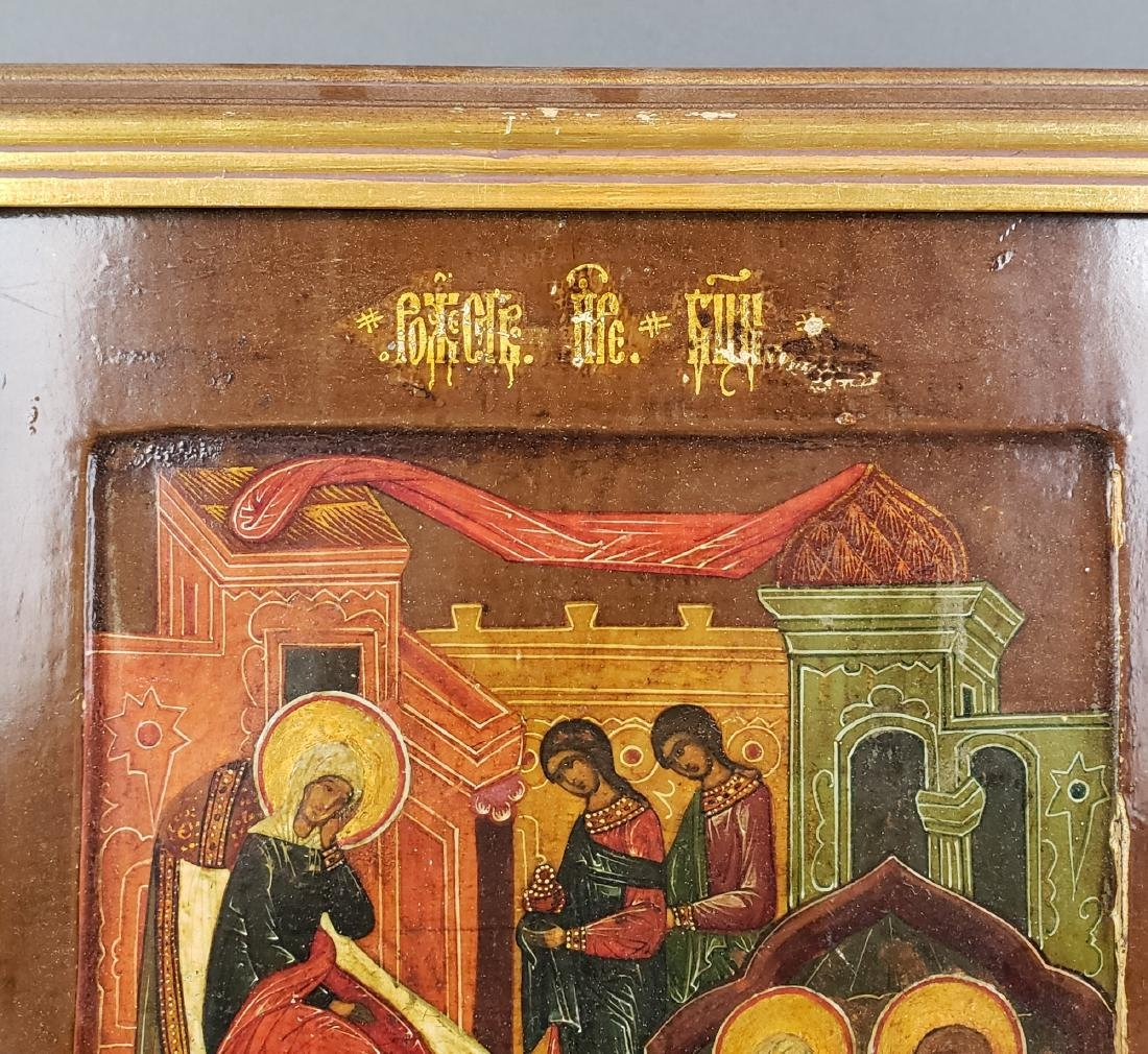 19th C. Russian Icon in Frame - 3