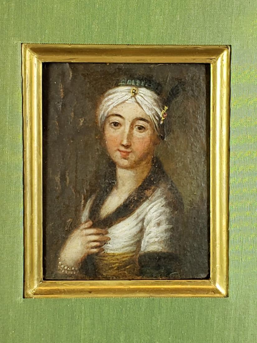 Framed Oil on Board of Woman - 2