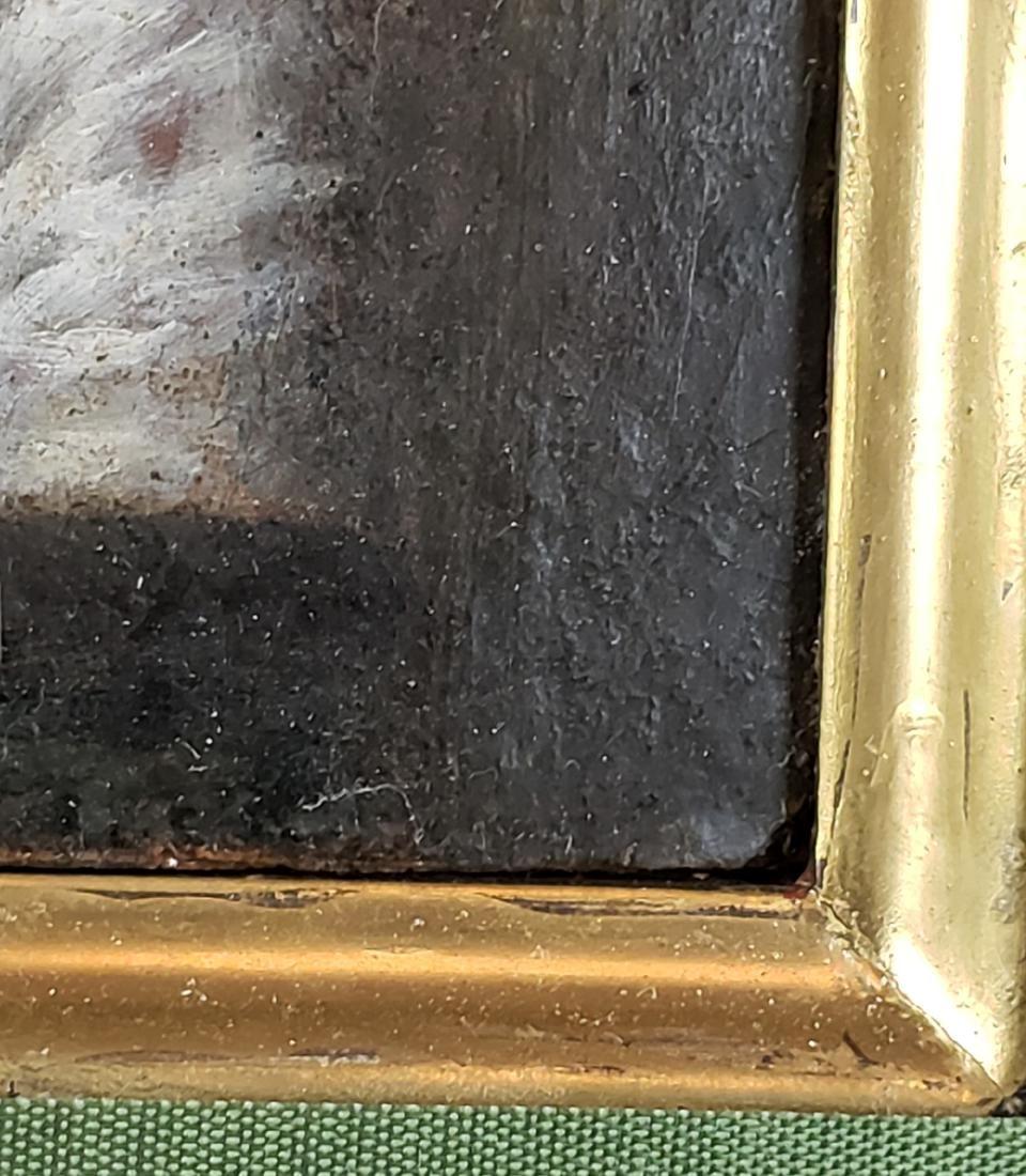 Framed Oil on Board of Woman - 3