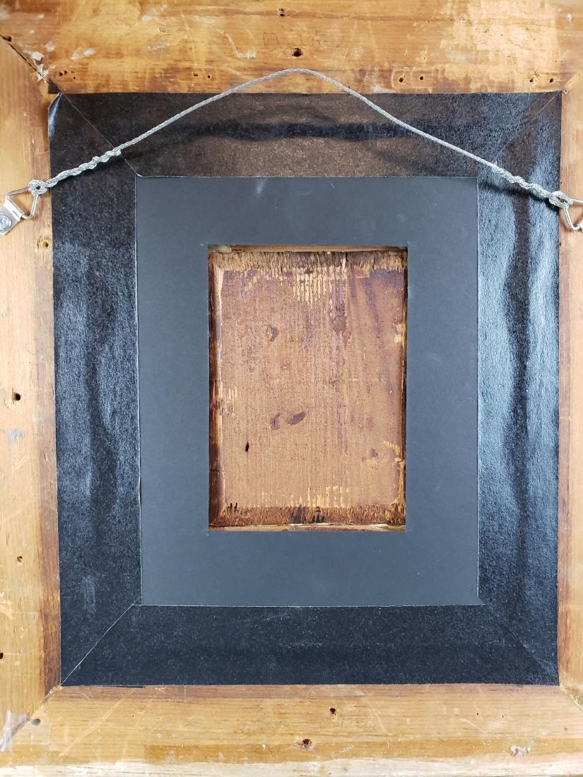 Framed Oil on Board of Woman - 5