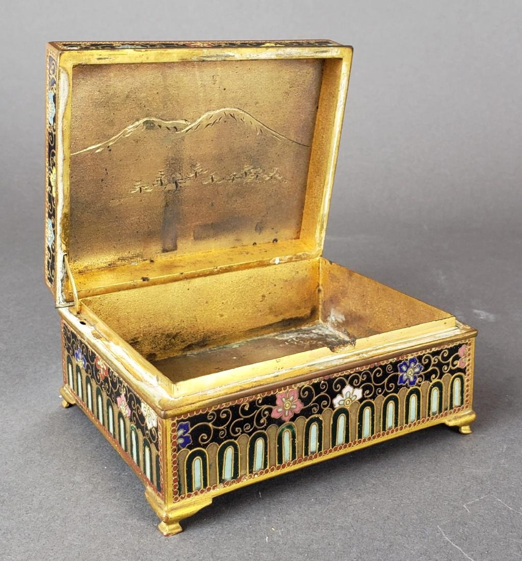 Chinese Enamel Jewelry Box - 3