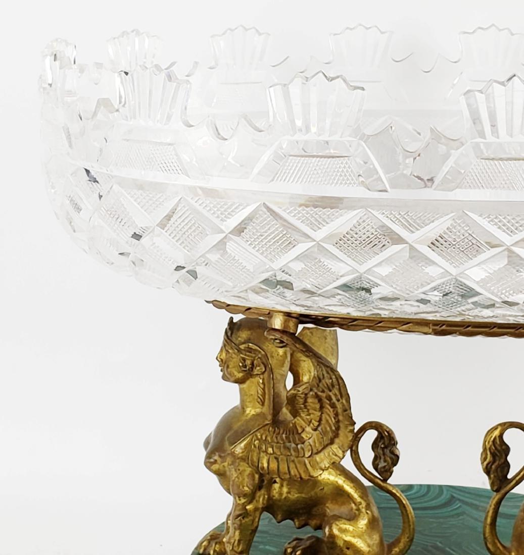 Bronze Crystal and Malachite Centerpiece - 2