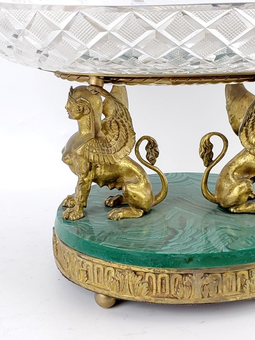 Bronze Crystal and Malachite Centerpiece - 3